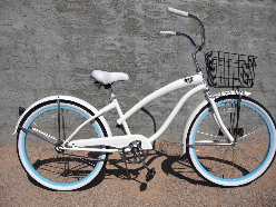 woman's beach cruiser